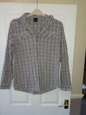 MENS BENCH VERY NICE GREY CHECK SHIRT WITH HOOD - SIZE M