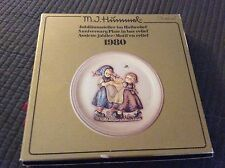 Hummel 1980 Anniversary Plate in bas relief w/original box