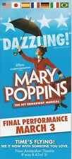 MARY POPPINS original B'way flyer with differet cast FINAL PERFORMANCE