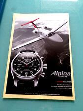 petite  publicité ancienne  LA MONTRE ALPINA ET SON AVION  (C8 ? )