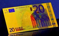"""★★ EUROPE : BILLET POLYMER  """" OR """" DU BILLET DE 20 EUROS ★"""