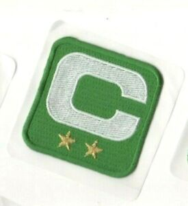 NFL 2019 SEASON CAPTAIN'S JERSEY 2-⭐STAR WHITE Captains C-PATCH Green SELF-STICK