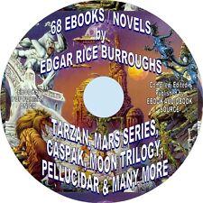 68 EDGAR RICE BURROUGHS EBOOKS-PDF-TARZAN, MARS, CASPAK, PELLUCIDAR, MUCH MORE