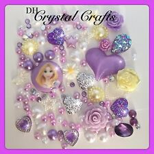 Disney Tangled Rapunzel Theme Cabochon Gems & pearls flatbacks decoden crafts #1