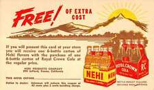 Nehi Royal Crown Soda Advertisement Coupon Antique Postcard K24665