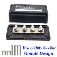 Heavy Duty 4 Way Bus Bar/Power Distribution Box Screw Terminal Studs 300A 48V DC