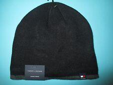 NEW* Tommy Hilfiger BEANIE Cap HAT MENS OSFA S M L XL Black Grey Fleece Lined