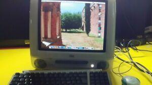 APPLE IMAC G3 M5521 BLUE VINTAGE + Apple m2452 TASTIERA COMPUTER VINTAGE