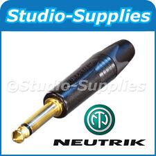 """Noire Neutrik NP2X-B 1/4"""" 6.35mm mono/asymétriques ts jack plug or contacts"""