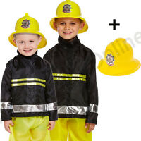 3-9 CHILDRENS KIDS BOYS FIREMAN FIRE FIGHTER FANCY DRESS COSTUME SAM UNIFORM.