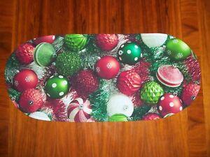 New Photo Real Christmas Ornaments Sm Table Runner--Toilet Tank Topper--Dresser