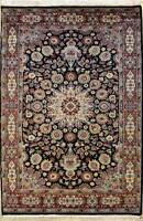 Rugstc 4x6 Pak Persian Black Area Rug, Hand-Knotted,Ardabil with Wool Pile