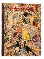 The New Yorker Magazine May 5, 1956 Birds Parrot Toucan Art Illustration