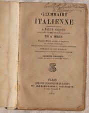 VERGANI GRAMMATICA ITALIANA GRAMMAR GRAMMAIRE 1876 ITALIANO