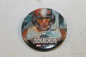 """POE DAMERON STAR WARS THE FORCE AWKENS RETAILER INCENTIVE 1.5"""" PIN  NMT 2017"""