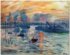 Sunrise Landscape - Hand Painted Claude Monet Oil Painting On Canvas Wall Art