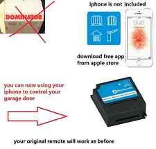 Dominator ybs2 ybs4 dom505 Garage Door remote upgrade iphone receiver kit
