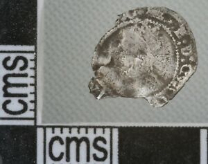 Great Britain England Elizabeth I Penny Silver Hammered Coin 1601-2 mm 1