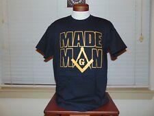 Masonic Square and Compass MADE MAN T Shirt L