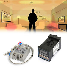 Digital Pid Temperature Controller 100 240vac 40a Ssrk Thermocouple Sensor Yu