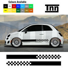 2 Side Stripes Graphic Decal Sticker For Fiat 500 595 Spider Punto Livery Fla