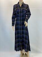 Massimo Dutti Paisley Elegant Retro Work Chic A Line Shirt Dress Size 6