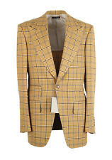 New TOM FORD Atticus Yellow Checked Suit Size 46 / 36R U.S.