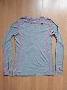 Kari Traa 100% Merino Wool Women's Thermal Base Layer Top T-Shirt Size XL