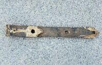 "Primitive Antique Hand Forged Barn Door Strap Hinge Gate Iron 12"" Long 1.5"" Wide"
