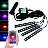 4x RGB 9LED Car Interior Atmosphere Light Strip Phone bluetooth APP Control