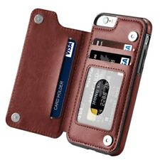 Magnetic Leather Wallet Case Card Slot Shockproof Flip Cover for iPhone 7 6 Plus