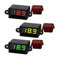 3 PCS Mini Digital DC Voltmeter 0.28 Inch Two-Wire 3.0V-30V Digital Voltmeter US