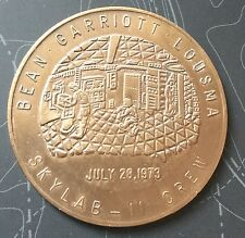 Project Skylab 2 Crew Bean Garriott Lousma Coin Medal NASA Space