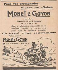 Z9062 Motos MONET & GOYON -  Pubblicità d'epoca - 1928 Old advertising