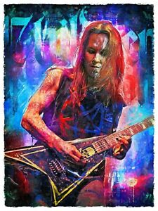 Alexi Laiho of Children Of Bodom art print. Rock legend  art poster print