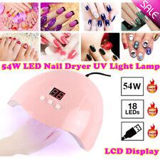 Professional 3 Timers UV Gel Nail Lamp 54W LED Light Nail Dryer Polish Curing