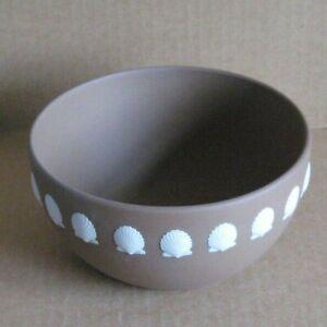Wedgwood Jasperware Dark Taupe Brown Shell Bowl