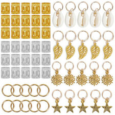 80pcs/kit Hair Jewellery Rings for Accessories Clips Braiding Cuff Decoration UK