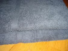 Pair of Royal Velvet by Fieldcrest Navy Blue Cotton Bath Towels Two Matching