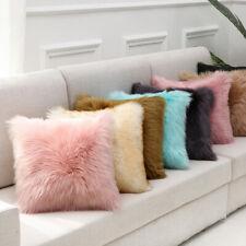 "UK 16"" 18"" Luxury Fluffy Soft Cushion Cover Plush Pillow Case Sofa Home Decor"