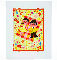 NEW Disney Parks WonderGround Carl and Ellie Gabby Zapata UP Deluxe Print