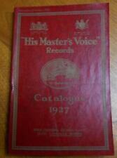 Australian HIS MASTER'S VOICE RECORD CATALOGUE 1927