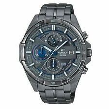 Casio Edifice Quartz Grey Ion Plated Steel Chronograph Men's Watch RRP £300