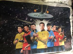 Star Trek Fleece Blanket Original Series Kirk  135cm X85cm Universal Studios