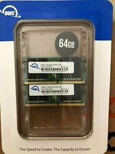 Brand New OWC 64GB (2 x 32GB) 2666MHZ DDR4 SO-DIMM PC4-21300 Memory Upgrade Kit