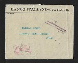 ECUADOR TO ITALY SUPERB AIRMAIL COVER 1931