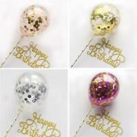 "Birthday Cake Topper 5"" Confetti Balloon Shower Decoration Baby Wedding Party"