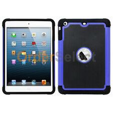 NEW Hybrid Rugged Rubber Matte Hard Case Skin for Apple iPad Mini 2 3 Blue HOT!