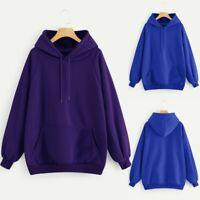 Women Hoodies Casual Pullover Sweatshirt Ladies Baggy Hooded Pocket Jumper Coat