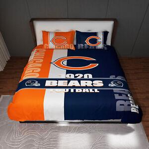 Chicago Bears 3pc Full Sheet Set - Full Bed Sheet 2 Pillow Cases